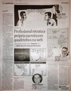 Vida de Suporte na Folha de São Paulo