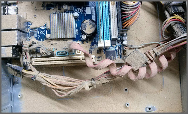 Flagras de Atendimento - Tempestade de areia