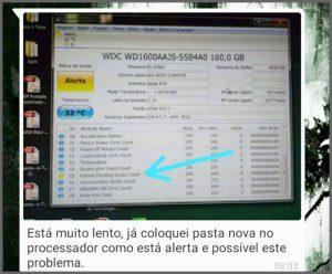 Flagras de Atendimento - Pasta no Processador