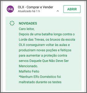 Flagras de Atendimento - OLX
