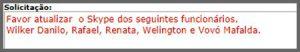 Flagras de Atendimento - Mafalda