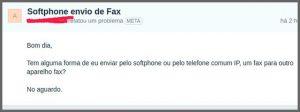 Flagras de Atendimento - Fax