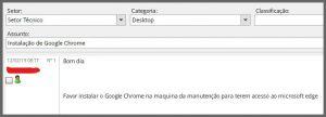 Flagras de Atendimento - Chrome Edge