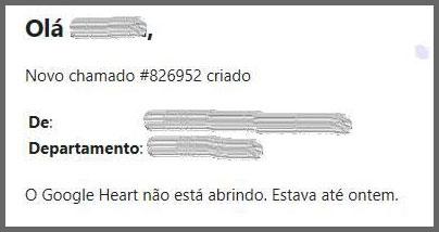Flagras de Atendimento - Google Heart