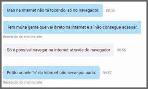 Flagras de Atendimento - Internet