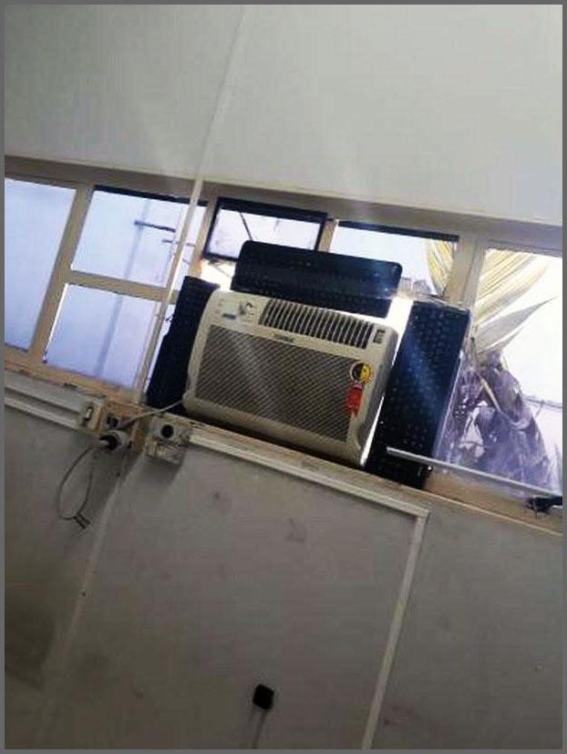Flagras de Atendimento - Vedação ar-condicionado
