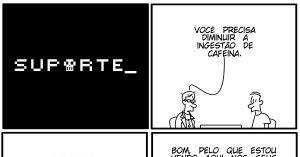 Vida de Suporte - Amo Café