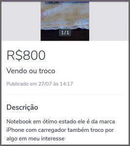 Marca Iphone - Flagras de Atendimento