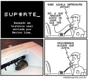 Impressora Antiga - Vida de Suporte