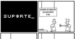 Mouse de bolinha - Vida de Suporte