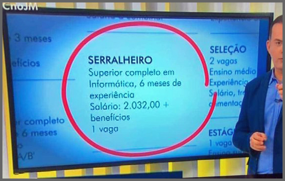 Vaga Serralheiro - Flagras de Atendimento