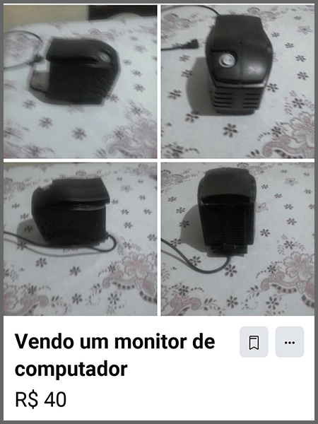 Vendo monitor - Flagras de Atendimento