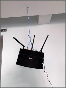 Access point no teto - Flagras de Atendimento