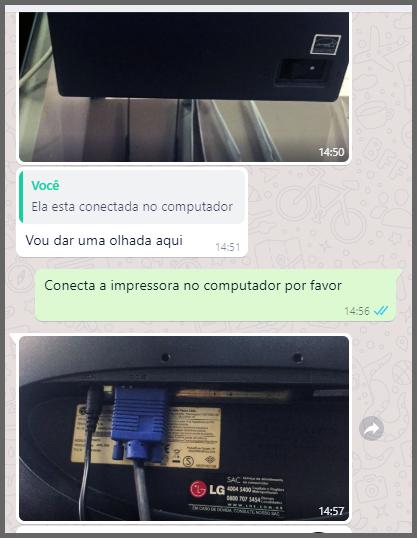 Conectando a impressora - Flagras de Atendimento