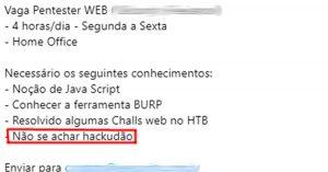 Hackudão - Flagras de Atendimento