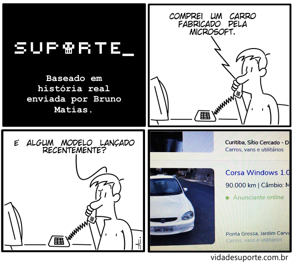 Carro da Microsoft - Vida de Suporte