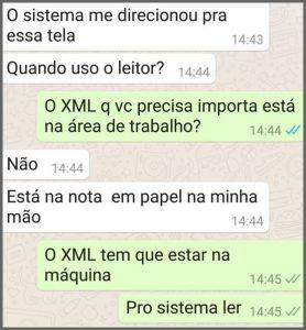 XML - Flagras de Atendimento