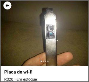 Placa Wi-Fi - Flagras de Atendimento da Semana