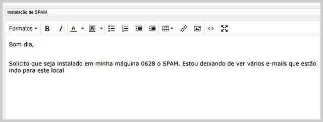Spam - Flagras de Atendimento