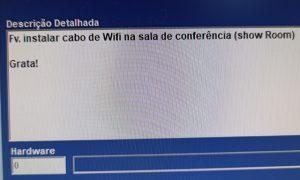 Cabeamento Wi-Fi - Flagras de Atendimento