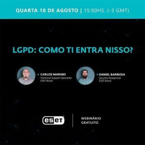 LGPD Webinário Gratuito ESET