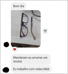 Óculos - Flagras de Atendimento