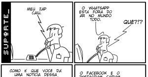 WhatsApp fora do ar - Vida de Suporte